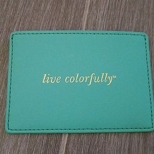 New Kate Spade Live colorfully blue card holder